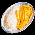 arroz e fritas